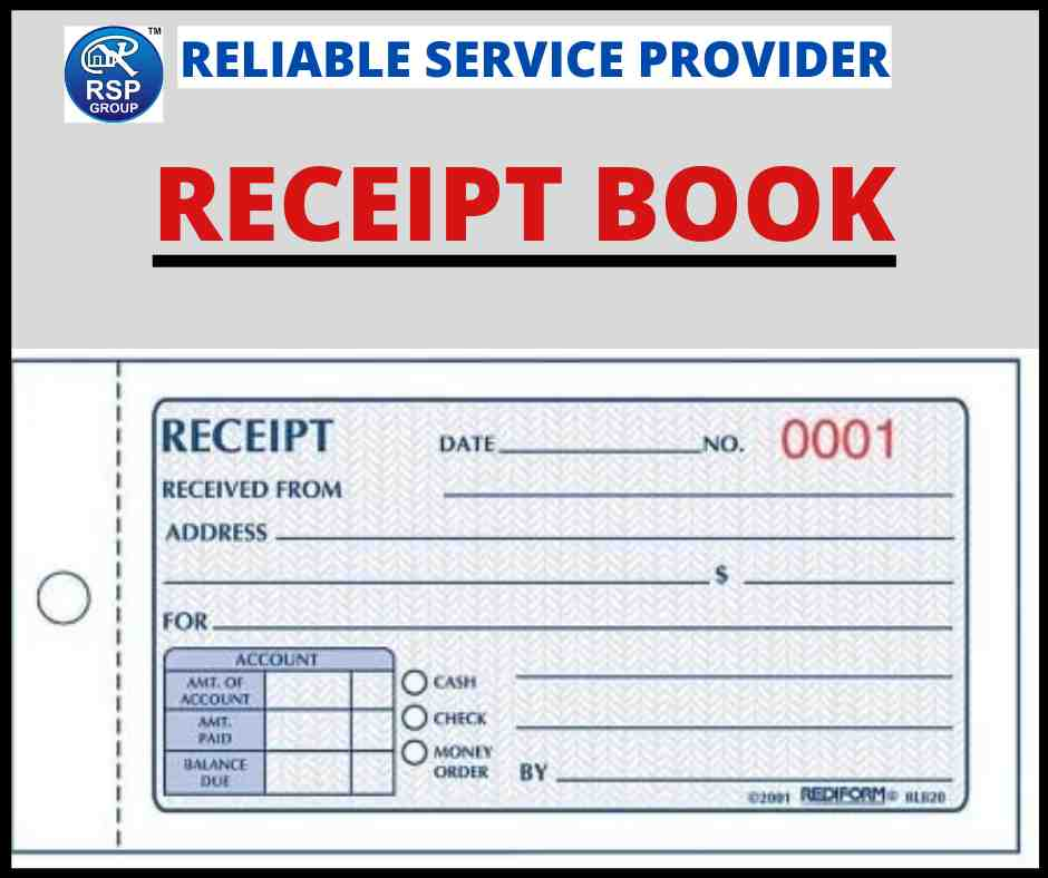 Best Designing and Printing Services of Receipt Book in India