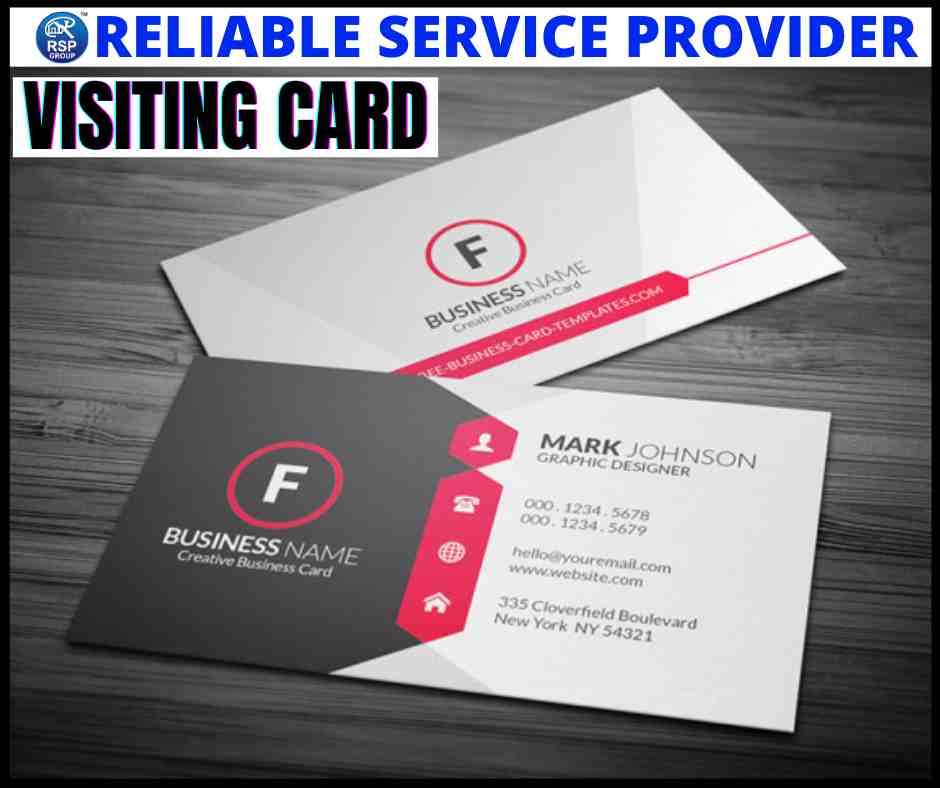 Best visiting card designing and printing services in India
